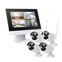 """ZGWANG HD 1080P 4CH Système de vidéosurveillance NVR NVR sans fil 2MP Kit de surveillance vidéo de sécurité de la caméra IP avec écran LCD 10.1 """""""