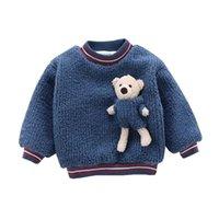 Neue Herbst Winter Kinder Mode Kleidung Kinder Jungen Mädchen Cartoon Pullover Baby Kleinkind Dicke Baumwolle Kleidung Kind Casual Mantel LJ201128