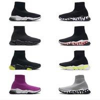 2020 أعلى جودة تمتد شبكة عالية أعلى حذاء أسود أبيض جورب الأحذية الفاخرة مصمم الأحذية سرعة المدرب رجل مصمم واضح وحيد أحذية