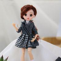 28cm 1/6 boneca com roupa de moda vestido de vestir bonecos de bebê multi corpo móvel conjunto lj201125