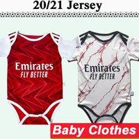 2020 2021 ملابس الطفل Tierney ساكا ويليان لكرة القدم الفانيلة BB Maitland-Niles توماس بيبي المنزل الأحمر بعيدا أبيض كرة القدم قميص بأكمام قصيرة