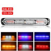 24 LED車のトラック緊急ビーコンライト12-24Vオートフラッシュサイドマーカーバーストローブ警告ライトユニバーサル
