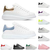 2021 Nouvelle plate-forme Mens Hommes Femme Casual Chaussures Yelloew Noir Blanc Vert Daim Vert Lumière En Cuir En Cuir Sneakers Mode Designer Chaussures