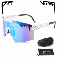 Pit Viper Marca Moda Bicicleta Bicicleta Ciclismo Óculos Ao Ar Livre Óculos de Sol UV400 Sports Eyewear MTB Óculos de Óculos com Caso q0119