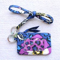 NWT kart tutucu usturyard ile küçük cüzdan sikke çanta pamuklu çiçek deseni