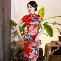 عارضة فساتين أزياء المرأة البسيطة شيونغسام وصول الصيني نمط الصيف قصيرة qipao اللباس vestido حجم s m l xl xxl xxxl