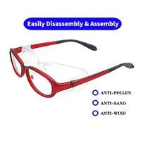 Outdoor Light Blue Prevenção Goggles menina Windproof Óculos Kid Eyewear Segurança Sports Limpar Boy Óculos Homens Mulheres NX