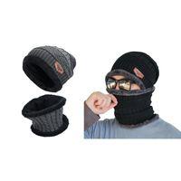 Шапочки / черепные колпачки 2 шт. Мужская зимняя шапка шапки и шарф набор теплых трикотажных колпачков с унисекс