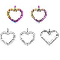 Charms 1pc Bonne Qualité Pendentif magnétique en forme de verre de la forme cardiaque pour collier de pull