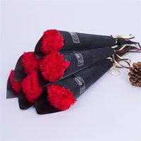Día de San Valentín Simulación Carnation Sole Rose Soap Flower para el día de San Valentín Día de la mujer Regalo de boda Flor de jabón