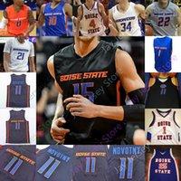 2020 Пользовательские Boise State Basketball L Jersey NCAA College College Derrick Alston Jessup Williams Kigab Hobbs Hutchison Akot Doutrive Smith Brow Shaver Jr.