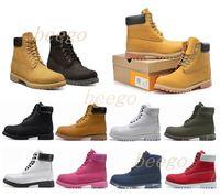 2021 남자 목재부츠 디자이너 남성 여자 신발 최고 품질 발목 겨울 부츠 카우보이 노란색 블루 블랙 핑크 하이킹 작업 36-46 11R #