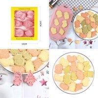 3d البسكويت ملفات تعريف الارتباط الحلويات العفن موضوع عيد الميلاد البلاستيك الصحافة نوع الخبز قوالب diy العفن اكسسوارات المطبخ جديد 7 8RL F2