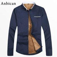 ANBICAN Fashion 2019 inverno camicia casual uomo manica lunga addensare magliette in pile slim fit inverno camicia calda Y200409