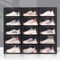 Складная пластиковая коробка для обуви густой пылезащитный Flip Stackable обуви прозрачный ящик сортировать обувь кабинета организатор обуви VT1865
