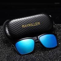 Gafas de sol cuadradas Raykiller polarizadas para hombres Partido Gafas de pesca con espejo UV400 Conducción al aire libre con caso1