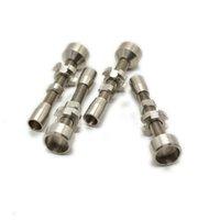 Doppelt einstellbar GR 2 Titan Nagel domeless Banger Rauchen Zubehör Werkzeug 14mm 18mm für Haken Glas Wasser Bong Rohre Öl Rigs