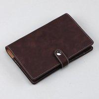 Notepades Notebook Spiral Spiral Spiral Cuir Soft Couverture Soft A6 Rechargeable Quatre brochures intérieures à l'intérieur des poches
