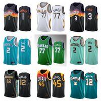 Lamelo 2 balle Ja 12 Jersey Morant Donovan 45 Mitchell Luka 77 Université Doncic Jerseys Devin 1 Booker Chris 3 Paul Jersey Basketball 2021