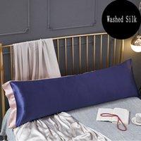 Nuevos productos de alta gama de almohadas de seda de la emulación de color seda / almohadas largas Funda de almohada cubierta 50x70cm / 48x120cm / 48x150cm # / l 201114