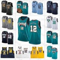 JA 12 Ahlaki Formalar MemphisGrizmaNCAA Murray State Racers Üniversitesi 2020 2021 Yeni Erkekler Çocuklar Basketbol Jersey Retro Mesh