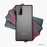لينة tpu الإطار شفافة ماتي pc حالة الصلب لآيفون 12 11 برو XR XS ماكس x 8 7 Samsung S10 Plus S20 Fe Fan Edition Note 10 20 Ultra