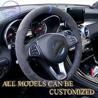 Крышка руля Alcantara замшевой кожи для Mercedes Benz AMG Все серии Handsewing Держатель настроек спортивной роскошной текстуры