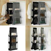 Двухсторонняя сумка для хранения Организатор с крючком высокой емкости моды висит ткань новых искусств пылезащитные прозрачные сумки настенные настенные 5 8AF F2