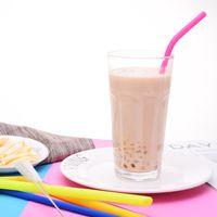 Food Grade Silicone Straw Eco Amichevole Morbido Tubularis Colore puro frutta succo di frutta bevande Tubi di aspirazione Vendi bene con vari stili 1 3WS J1