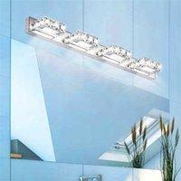 Neueste Design 6W Doppellampe Kristallfläche Badezimmer Schlafzimmerlampe Weißes Licht Silber Nodic Art Decor Beleuchtung Moderne Wasserdichte Wandleuchten