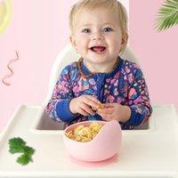 Martin799 bebê Silicone Louça Strong otário Waterproog Tigela Set Crianças sucção bacia Baby Food bacia de alimentação do bebê Tableware