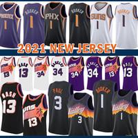 2021 New Basketball Jersey PhoenixSonnen?Herren Devin 1 Bucher Chris Steve 13 Nash 3 Paul Charles 34 Barkley Lila