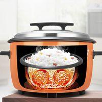 Cuisinière à riz électrique 220V Grande capacité 8-45 litres 15-20-30-40 Personnes Cantine Hotel Ancien Commercial Commercial Riz Cuisinière1