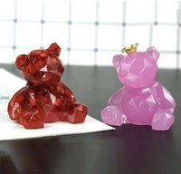 Sile Mould Diy Crystal Epoxy Three-nsional Geometric Bear Shaped Mold Plaster Aromatherapy Cake Decoration Tool jllVYQp Fight2010