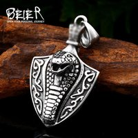 Anhänger Halsketten Beiier 316L Edelstahl Wikinger Norse Odin Snake Head Für Männer Amulett Skandinavische Halskette Modeschmuck LHP092