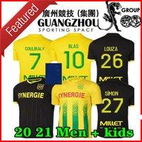 20 21 FC Nantes Soccer Jersey Home Alew Away Maillot de Foot 2020 2021 Simon Louza A Toure Blas Coco Coulibaly Hombres adultos Camisas de fútbol para niños