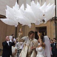 Vit duva ballonger bröllopsfest dekorationer flygande fred duva fred fågel äktenskap helium ballong brud och brudgum inredning