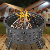 Large Outdoor 26 Inch Fire Pit Wood Burning Heater Backyard ...