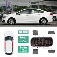 Schwarzes Netzgarn für Chevrolet Cruze Sedan 2015-2018 Seitenfenster Magnetische Sonnenschutz UV-Schutz Ray Blocking Mesh Visier