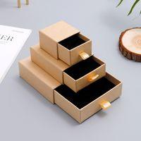 Boîte à bijoux en papier Petite Éclairage Jewerly Affichage d'emballage pour collier Organisateur de bijoux Personnalisé Cadeau de carton de tiroir personnalisé W1219