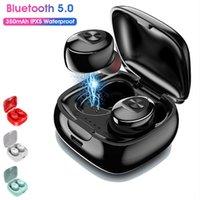 Sıcak XG12 Çift TWS Kablosuz Bluetooth 5.0 Kulaklık Stereo HIFI Ses Spor Kulaklık Handsfree Kulak Oyun Kulaklık Mic ile iPhone için