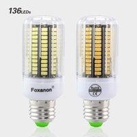 E27 E14 Lámpara LED 220V 230V Luz de maíz Lampada 5733 Chip 30 - 136leds Bombilla de aluminio PCB más brillante que 5730 4014 SMD
