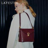 HBP La Festin Bags 2020 Nova moda na moda portátil único saco de ombro bloqueio pequeno saco quadrado de couro de couro gêmeo