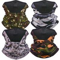 Echarpe en plein air Écharpe Magique Foldable Hommes Respirable Col Col Gaiter Protection anti-poussière Camouflage Camouflage Camouflage Sunscreen Nouveau 4 5YT N2