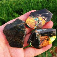 3 SZTUK Naturalny Flash Labradorite Plasterek Szorstki Labradoryt Kamień Kryształ Healing Chakra Medytacja Klejnot Kamień Wafel 201125