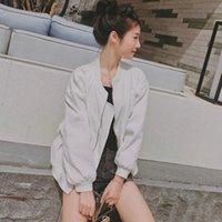 2020 бомбардировщики Женская новая женская базовая пиджака мода ветровка высокого качества варенье женское пальто