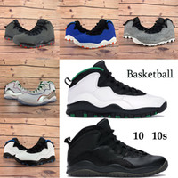 New 10 10s Men Basketball Shoes Seattle Wings Powder Drake OVO black Athletic Sneakers Light smoke grey Chicago Steel Tinker Trainers