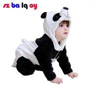 Jumpsuits A menina, 2021 0-3 anos de idade jumpsuit bebê queda e inverno mais cashmere modelagem de animais longos para wrap pé1