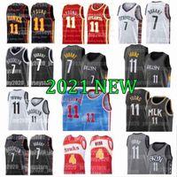 Brooklyn Nets Irving Jerseys 7 Kevin Atlanta Hawks Durant Kyrie Trae 11 Jovem Deandre 12 Hunter Spud 4 Webb 72 Biggie Homens Preto 2021 Novo Basquete