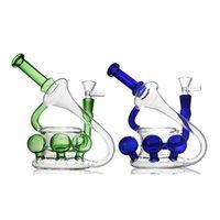 Einzigartige Glasbong Bunte Wasserpfeife Eierhukahn Bubbler Öl Rigglas Wasserleitung Becherbecherbock 2 Farben
